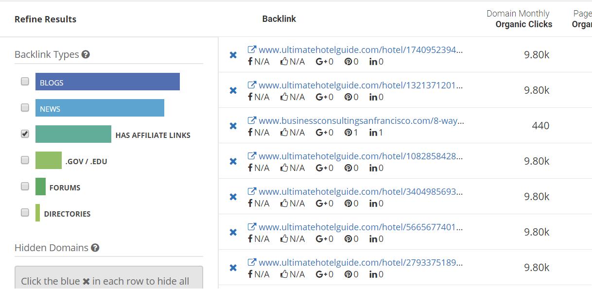 filter spyfu backlinks