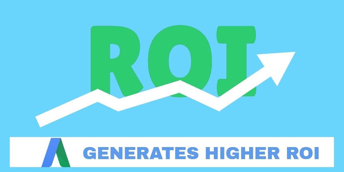Adwords generates higher ROI