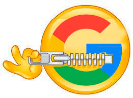 Google with a zipped mouth not telling