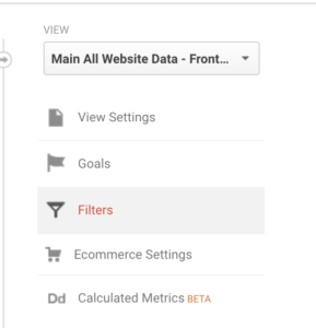 Google analytics view filters