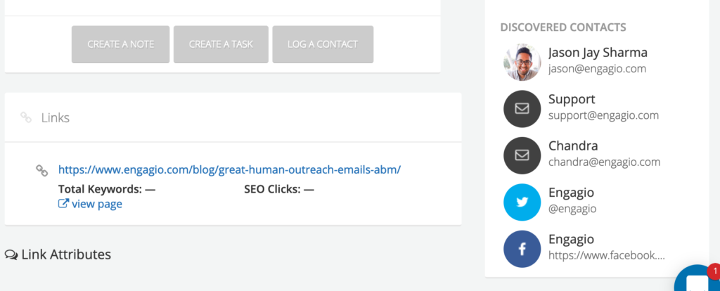 approved contacts are automatic for a link
